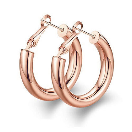 CIAO BELLA ROSE HOOPS EARRINGS