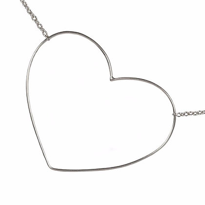OPEN YOUR HEART WHITE NECKLACE