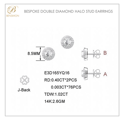DOUBLE HALO DIAMOND STUDS