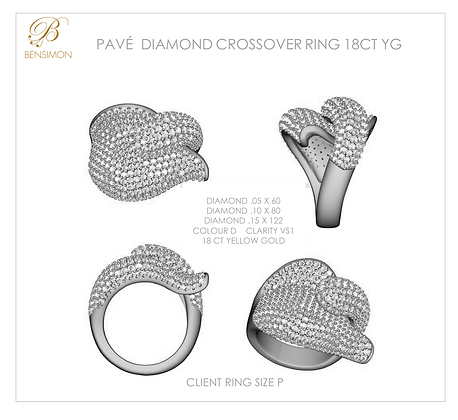 STATEMENT PAVÉ DIAMOND RING GOLD