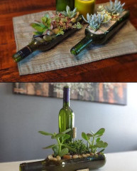 DIY Wine Bottle Centerpieces!