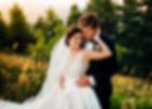 Bride & Groom Mounatin Wedding Portrait