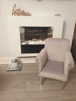 Mini Me Grey Arm Chair