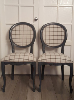 Grey Check Chairs