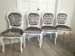 4 Glam Dining Chairs