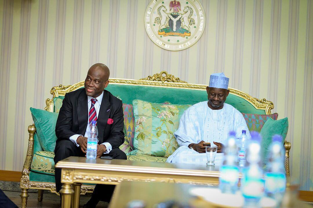 A picture with Dr Herbert Wigwe and His Excellency Gov. Ibrahim Dankwambo.