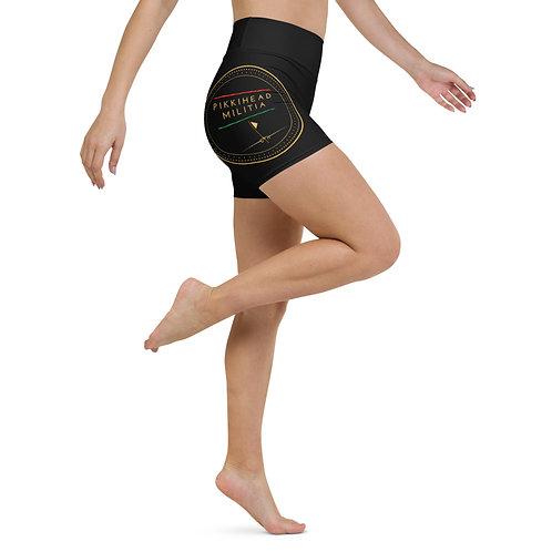 Women's Pikkihead Militia Logo Yoga Shorts