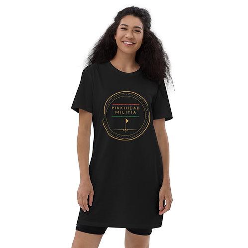 Women's Pikkihead Militia Logo Organic Cotton t-Shirt Dress