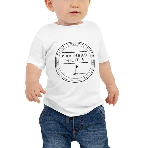 Baby Pikkihead Militia Black Logo T-Shirt