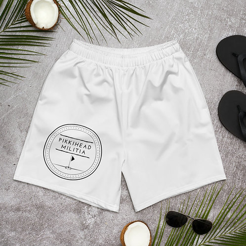 Unisex Pikkihead Militia Logo Athletic Long Shorts