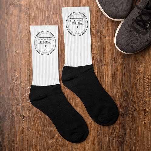 Pikkihead Militia Black Logo Socks