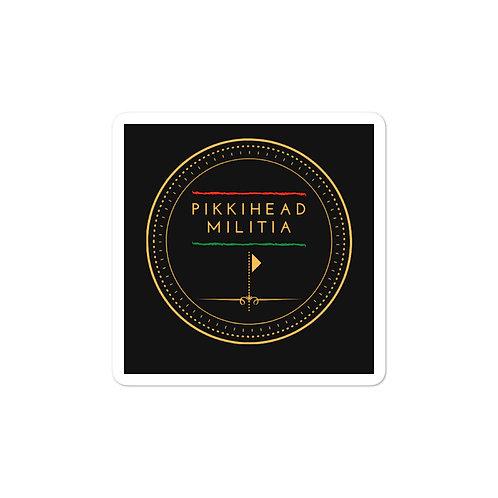 Pikkihead Militia Logo Bubble-Free Stickers