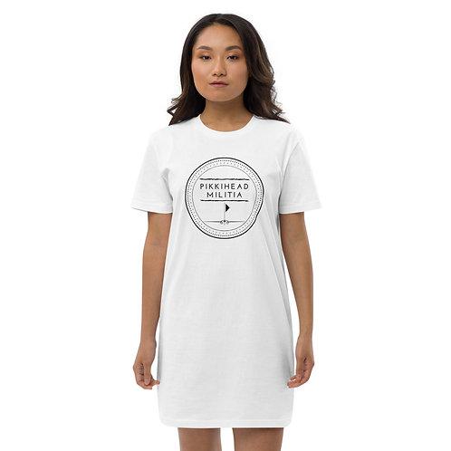 Pikkihead Militia Black Logo Organic Cotton T-Shirt Dress