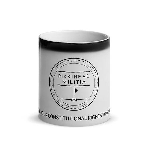 Pikkihead Militia Black Logo Glossy Mug