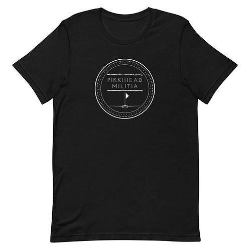 Unisex Pikkihead Militia White Logo T-Shirt