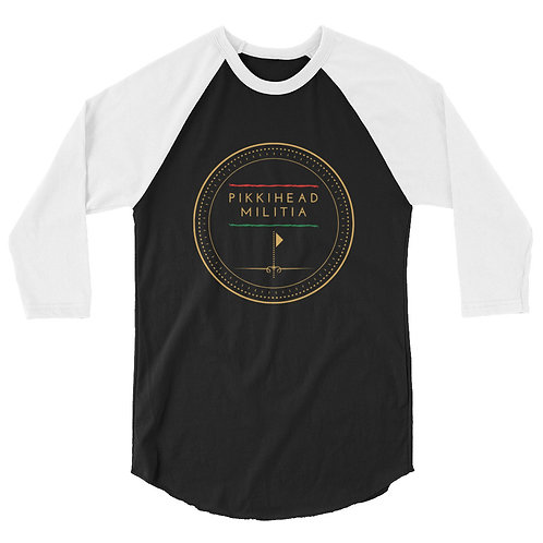 Pikkihead Militia Logo 3/4 Sleeve Raglan Shirt
