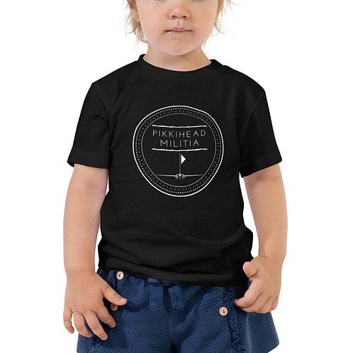 Toddler's Pikkihead Militia White Logo T-Shirt