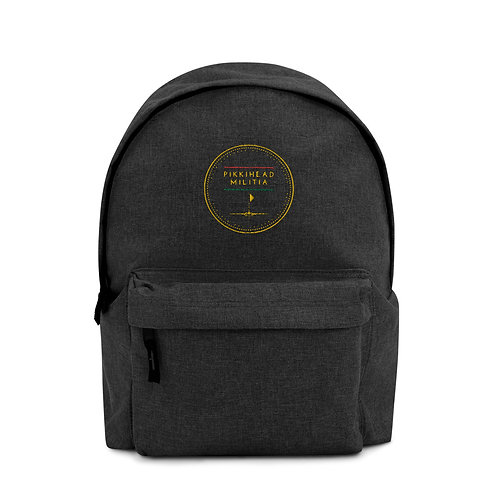 Pikkihead Militia Logo Embroidered Backpack