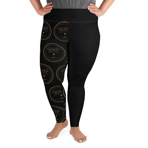 Women's Pikkihead Militia Logo All-Over Print Plus Size Leggings