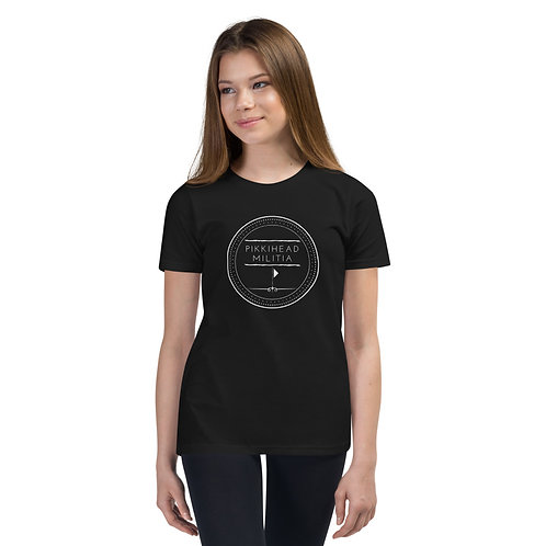 Youth Pikkihead Militia White Logo T-Shirt