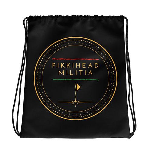 Pikkihead Militia Logo Drawstring Bag