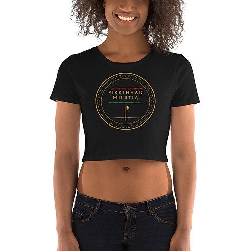 Women's Pikkihead Militia Logo Crop Tee