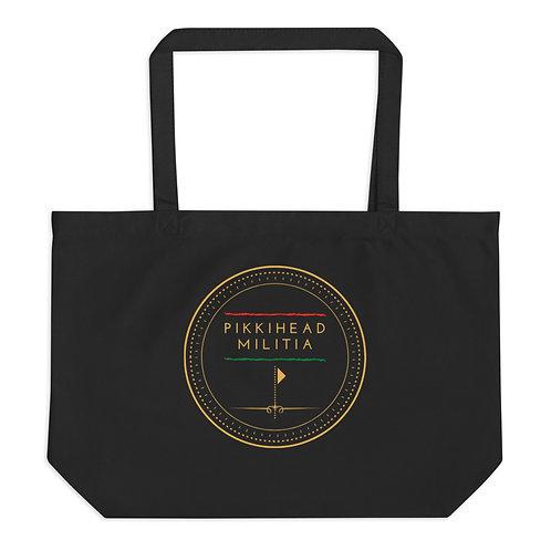 Pikkihead Militia Logo Large Organic Tote Bag