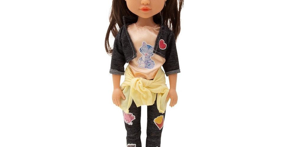 Boneca Juju Carinha De Anjo Baby Brink 45cm