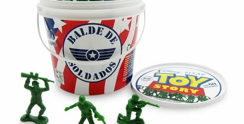 Balde 60 Soldados Toy Story Disney Soldadinhos
