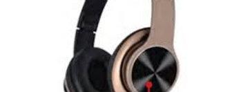 Headphone com Bluetooth Estéreo Fone de Ouvido MP3 MP4 MP5 FM - Bronze