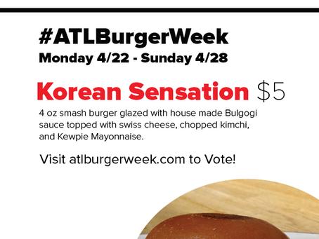 #ATLBurgerWeek $5 Burger
