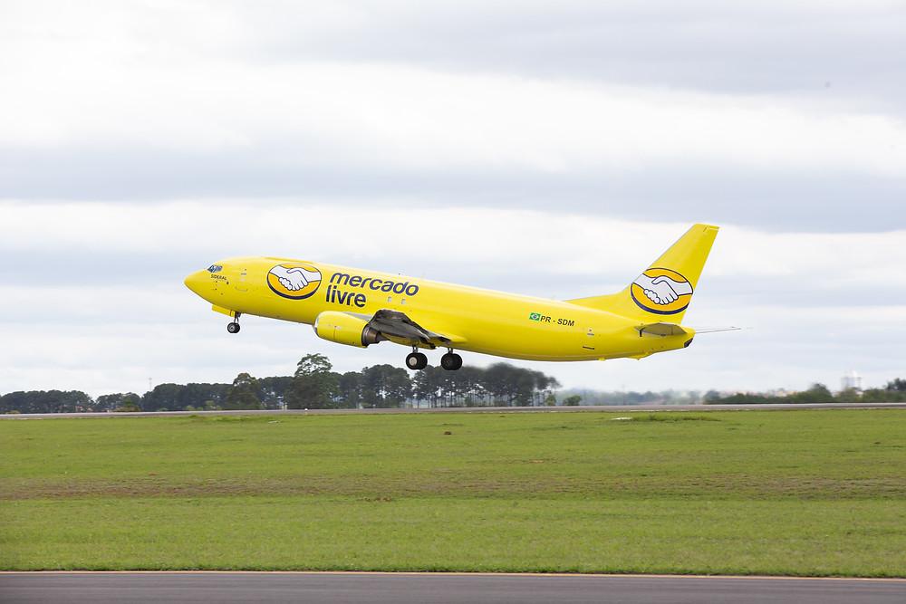Avião do Mercado Livre