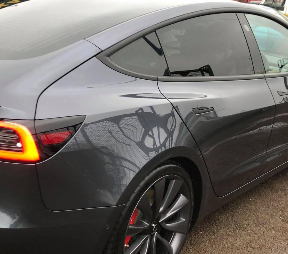 Tesla Model 3 car detail