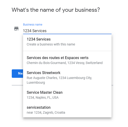 Google Business setup