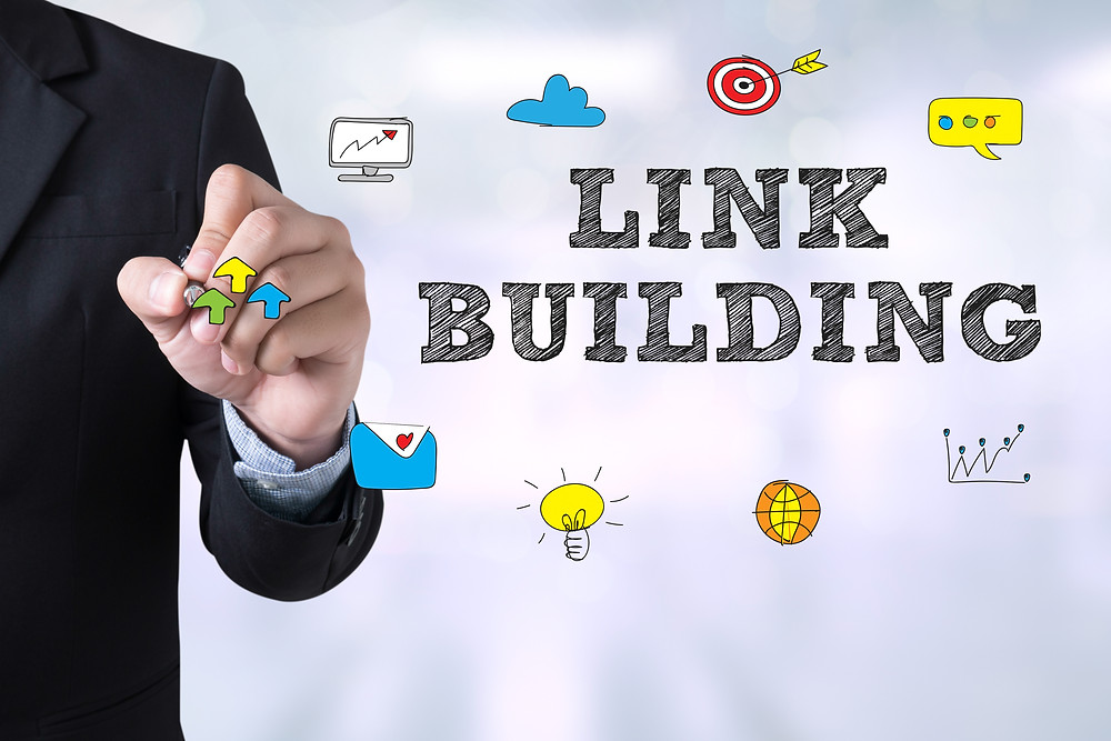 link building floating text