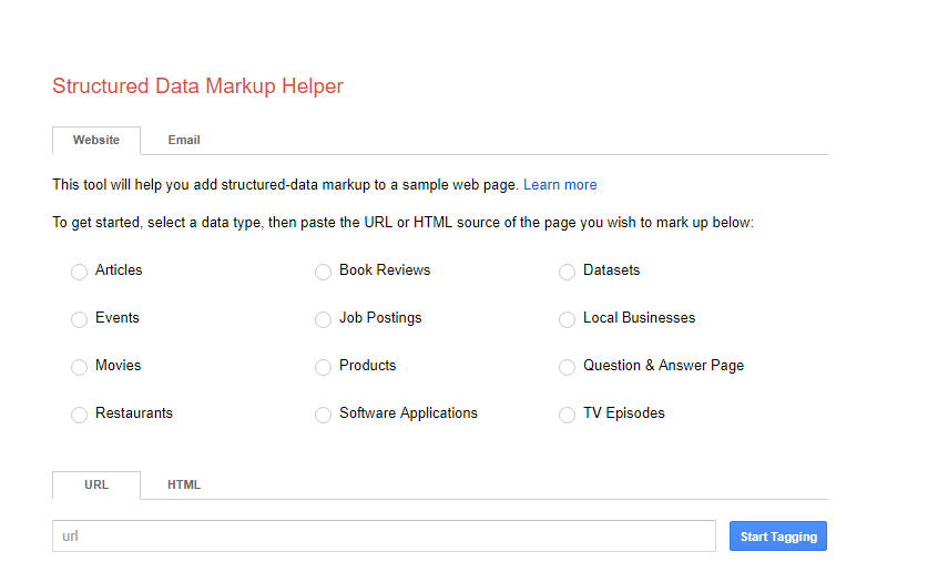 Data Markup Helper