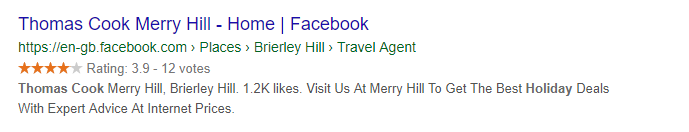 Google Facebook Reviews