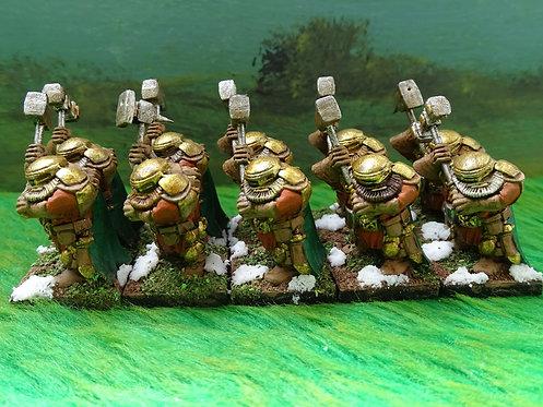 Troop of Dwarf Shieldbreakers 10x Figures Lot 2