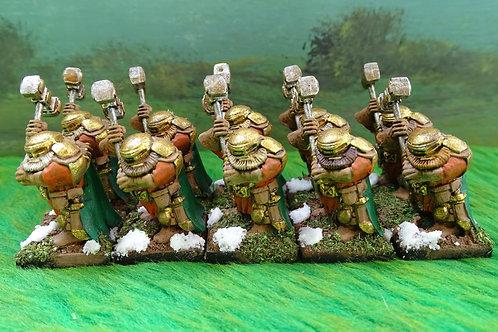 Troop of Dwarf Shieldbreakers 10x Figures Lot 1