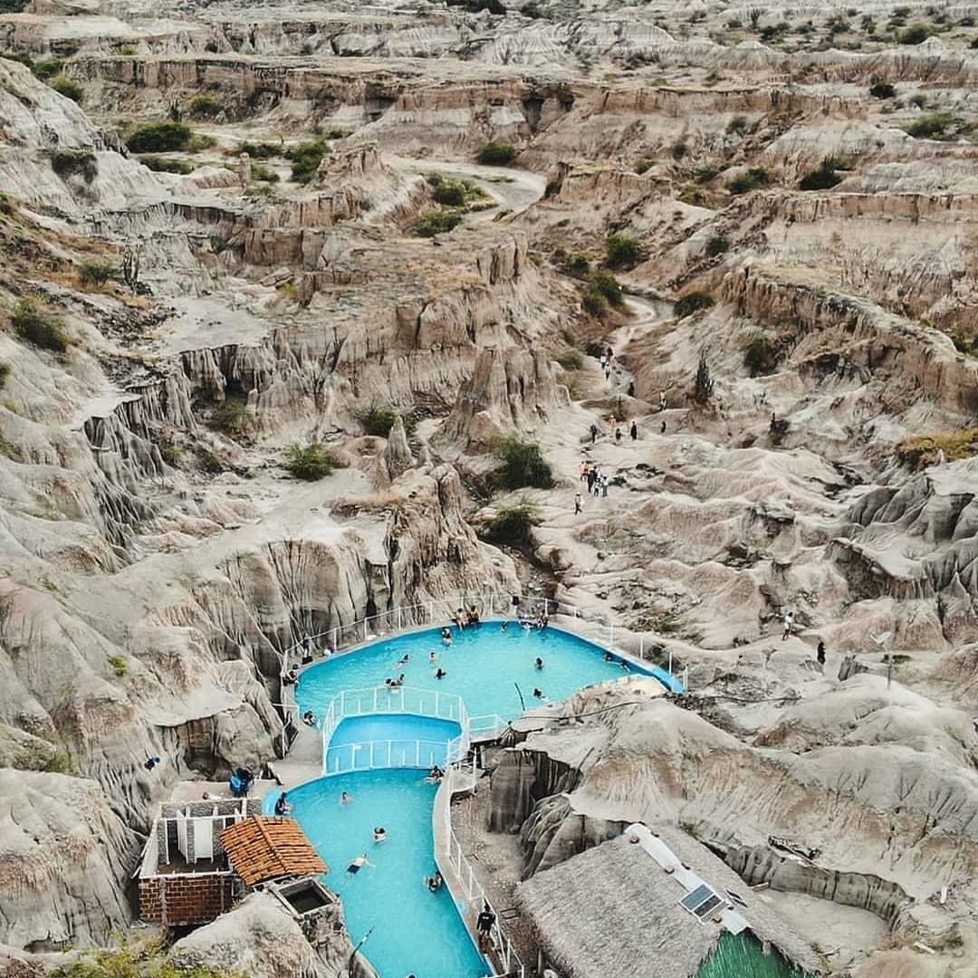 Desert pool of Tatacoa.