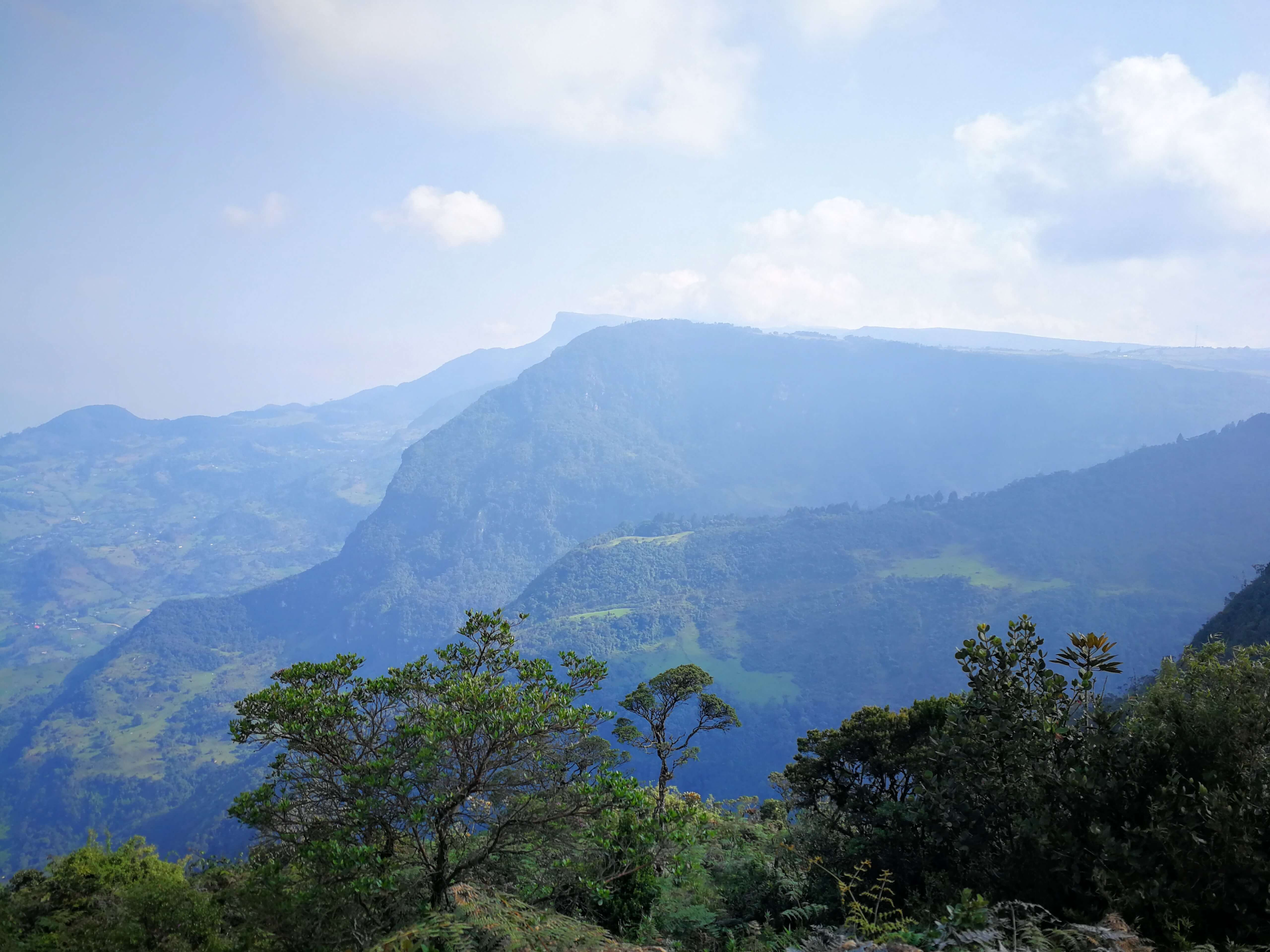choachi vyhled z chorrery hory