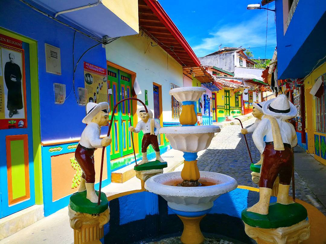 The most colorful village - Guatapé.