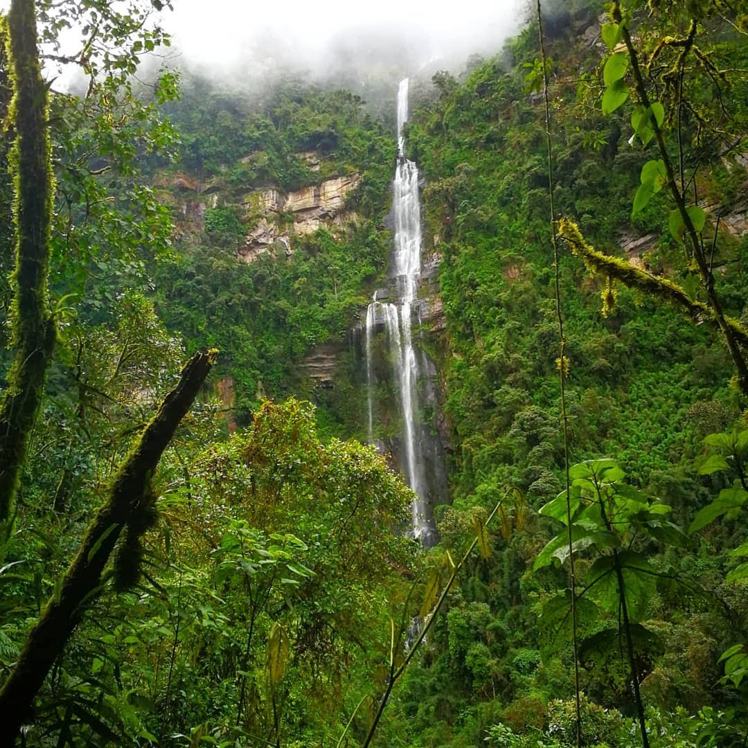600 meters high waterfall