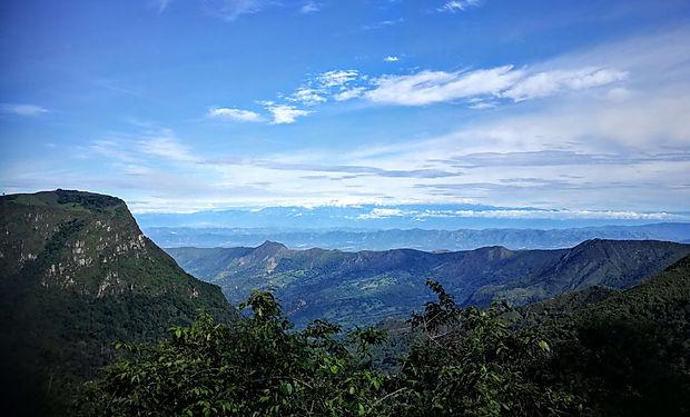 Kolumbie výhled z hory dovolná