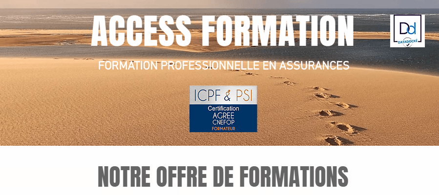 Offre de formations | ACCESS FORMATION - FORMATION PROFESSIONNELLE EN ASSURANCES