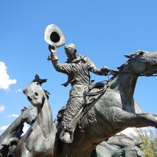 Statue at Calgary Stampede Grounds, Albe