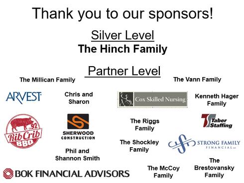 Thank You Night of Legacy Sponsors & Volunteers