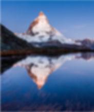 Matterhorn, Riffelsee Spiegelung, Reflection