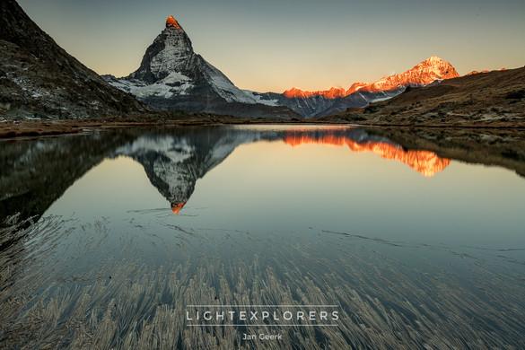 Zermatt-Matterhorn-Alpenglühen