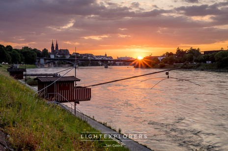 Basel-Stadt-Sonnenuntergang